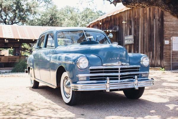 Wedding Classic getaway car