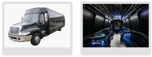 Austin bus transportation services limo bud party bus limousine