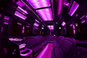 Party Bus Rental Service 25 Person Austin charter 25 passenger limo bus shuttle transportation.