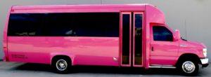 Austin 22 passenger partybus at the domain